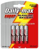 aaa alkaline Battery LR03-4B (AM-4/AAA Size)