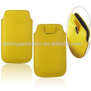 yellow for all mobile phone leather case cover skin