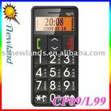 Christmas Gift New Old men mobile phone L99/S718 with FM, flash light, Large Keyboard, SOS Function, Free shipping