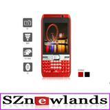 Triple SIM Dual Camera 2.8 Inch Touch Screen Cellphone (TV Wifi FM Bluetooth Java QWERTY Keypad Unlocked QuadBand )