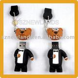 USB Flash Drive Disk With Bear Shape For Christmas Gifts