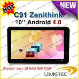 Android 4.0 10 point touch 1G zenithink c91 tablet pc
