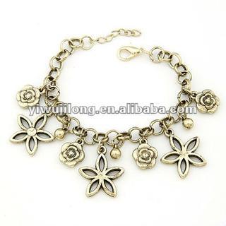 jewelry ,wholesale fashion flower charm bracelet JLD-10048