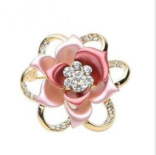 Charm flower crystal brooch TBB0004