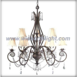 Classical elegant chandelier lamp/light with 9 shades&crystal pendants (C80309)