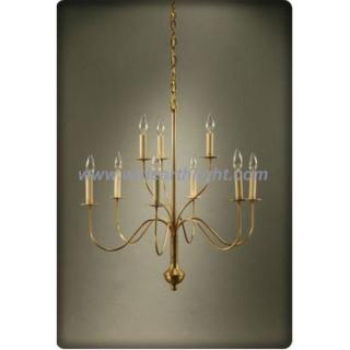 9 arms simple fixture brass chandelier lamp/light (C60031)