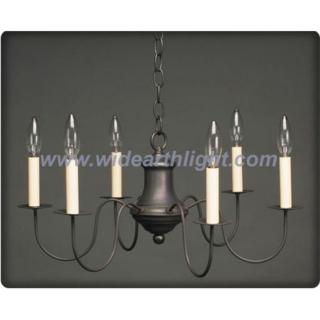 Six lights iron pot shape fixture chandelier lamp/light in black nickel color (C60030)