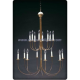 Two tiers chandelier lamp/light with candle lights (C60016)