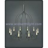 Unique large birdcage chandelier lamp/light in dark brass painted (C60019)