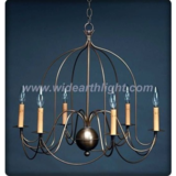 Antique birdcage shape chandelier lamp/light with paper drip sleeves in candle light (C60020)