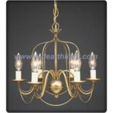 Gold painted birdcage shape chandelier lamp/light (C60021)