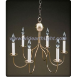 Bronze painted decorative chandelier lamp with candleholder (C60026)