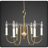 Gold painted pothook iron chandelier (C60033)