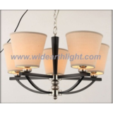 Modern wooden chandelier lamp/light with fabric shades (C70005)