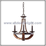 3 arms bow shape wooden chandelier lamp/light (C80326)