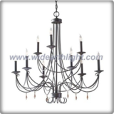 9 arms iron chandelier lamp with wooden pendants (C80327)