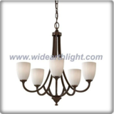 Flower classical painted chandelier lamp with five shade (C80377)