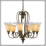 Europe antique bronze chandelier light with 6 shades (C80385)