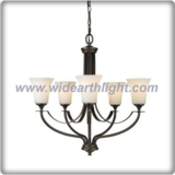 Big flower classical lacquered chandelier lamp with five shade (C80388)