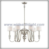 Simply stainless steel chandelier lamp/light with 7 glass shades (C80405)