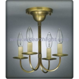 Simply small bronzed finished chandelier lamp/flush lamp (C60008)