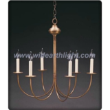 Europe style eggshell glass bulb chandelier lamp with candle lights (C60009)