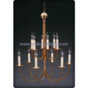 American two tiers chandelier lamp in copper finished (C60012)