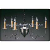 Collective black nickel finished chandelier lamp with candle lights (C60013)