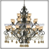 Modern design bronze plated gloden crystal chandelier lamp (C80800)
