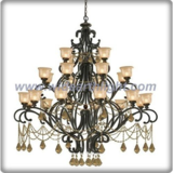 Modern design bronze plated gloden crystal chandelier lamp (C80800)