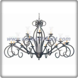 Unique black nickel chandelier lamp with 18 small candle lights (C80803)