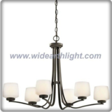 Europe style metal bronze plated chandelier lamp with bowl-like glass shades (C80895)
