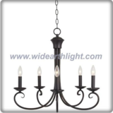 Antique coffee color simple chandeliers ceiling design with curly arms  (C80901)