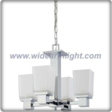 American style chrome chandelier lamp decoration with square glass shades (C80913)
