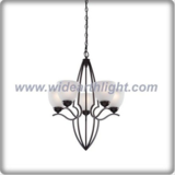 Europe style metal bronze plated chandelier lamp with glass bowl shade (C80587)