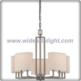 Hotel oval fabric shade and hazel bronze chandelier lamp (C80598)