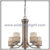 Unique design hazel bronze chandelier lamp with net shade support (C80601)