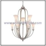 Unique design pewter bouquet chandelier lamp with flower shade (C80662)