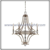 Luxurious crystal decoration and silver chandelier lamp with candle light (C80667)