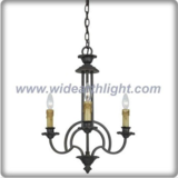 Simply small shaped bronze chandelier lamp with candle lights (C80695)