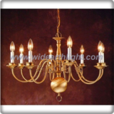 8 arms candle lights antique brass plated chandelier lamp (C80710)