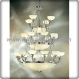 Unique design rope arms bowl chandelier lamp of silver plated (C80786)