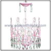 Beautiful design pink crown chandelier lamp with crystal pendants (C80805)