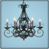 Unique metal black chandelier lamp with candle light (C80808)
