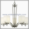 American style brushed nickel chandelier lamp,white glass shade chandelier lamp (C80812)