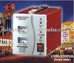 Power stabilizer:UVR-2000VA stabilizer(relay type, single phase)