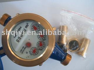 Brass body multi-jet water meter (for cold water)