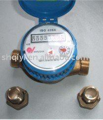 Brass body Single-jet water meter(for cold water)