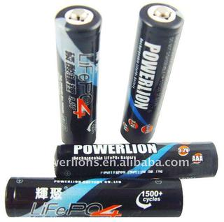 Save your camera !battery revolution!AAA LiFepo4 Rechargeable batteries 250mAh 1piece replace 2pieces Ni-MH batteries