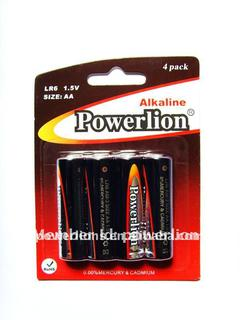 POWERLION SIZE AA AM-3/LR6-4B AA Alkaline aa Battery
